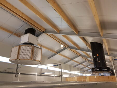 Equal pressure ventilation and fine dust reduction with Climamix and OctaFil