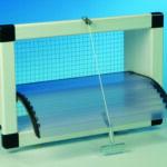 Inlaatventielen met transparante gebogen kantelklep, geopend