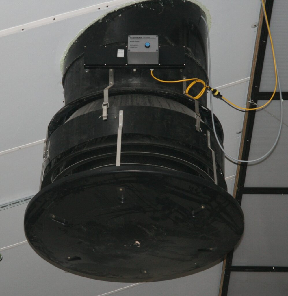 Lightfilter with inflowrings for ventilation chimney