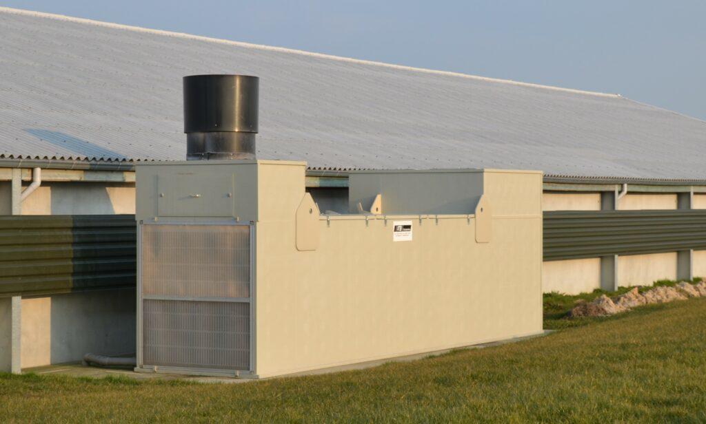 Air2-DSK Warmtewisselaar voor Koelen in de geitenhouderij